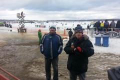 Alain et Maurice course sur glace